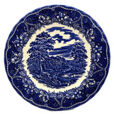 Cobalt Blue and White China Dinner Plate