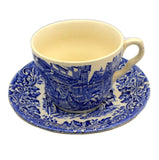 English Ironstone Blue and White China Teacup