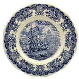 Enoch Wedgwood Historical Ports of England blue and white china plate