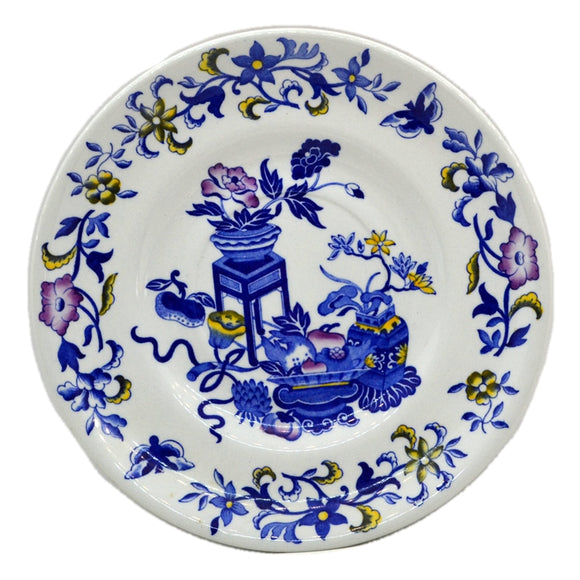 Copland Spode China Blue Bowpot Blue and White China Side Plate 1959