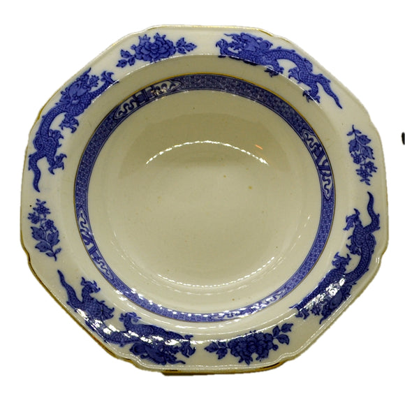 cauldon blue dragon china bowl