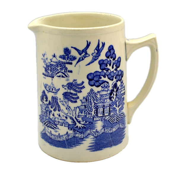 Blue and White China Willow Pattern Large Jug