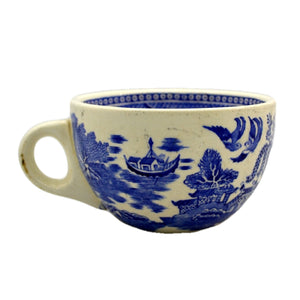 Rare Dunn Bennet & Co Ltd Blue and White Old Willow Cup