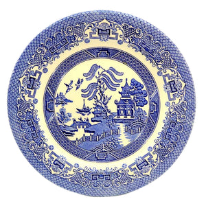 English Ironstone Tableware Old Willow Plate