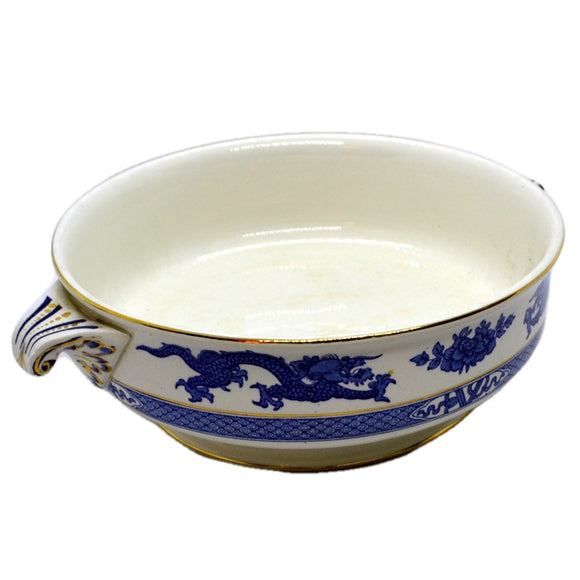 booths blue dragon serving bowl