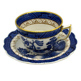 Booths Real Old Willow China Teacup and Saucer Blue and White China