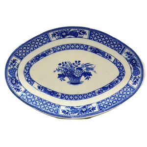 Booths Silicon China Nankin Blue and White China Dish
