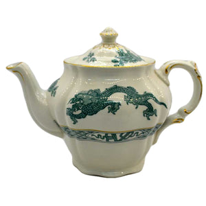 Booths silicon china turquoise dragon tea pot
