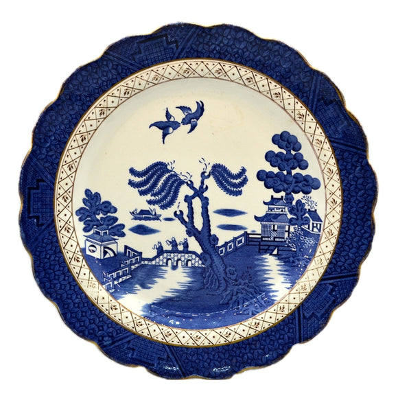 booths Real Old Willow blue and white china dinner plate