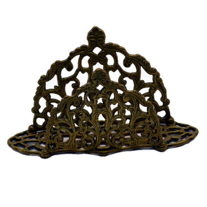 antique cast brass letter rack