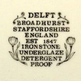 broadhurst delft china marks