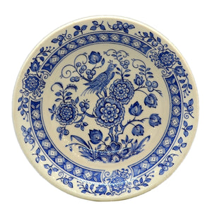Broadhurst Ironstone blue and white China Asiatic Bird Cereal Bowl