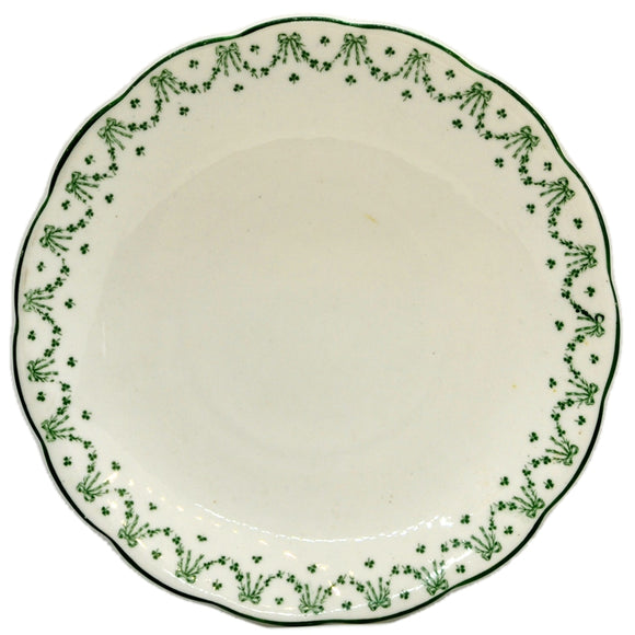 antique green and white china perth cake plate by jackson and gosling 1914-1919