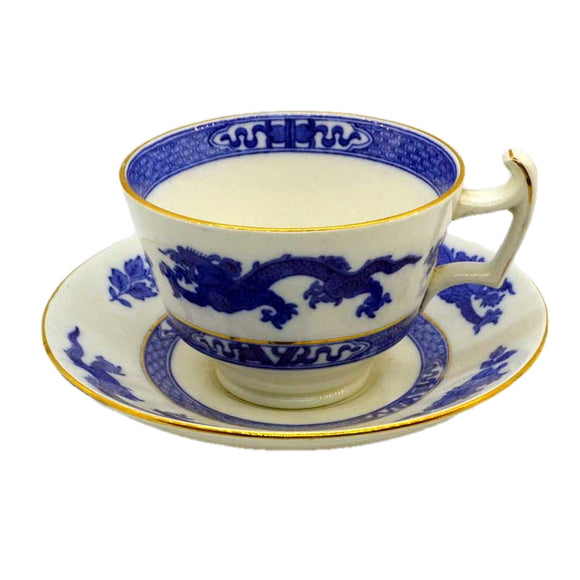 royal cauldon blue dragon antique breakfast cup