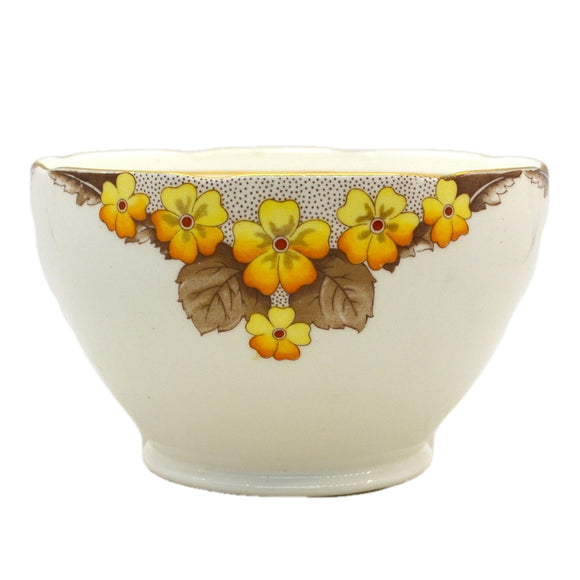 Caversham Art Deco Floral China Sugar Bowl