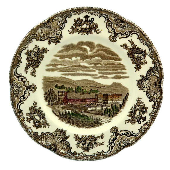 Johnson Bros China Brown and White Chatsworth dessert plate