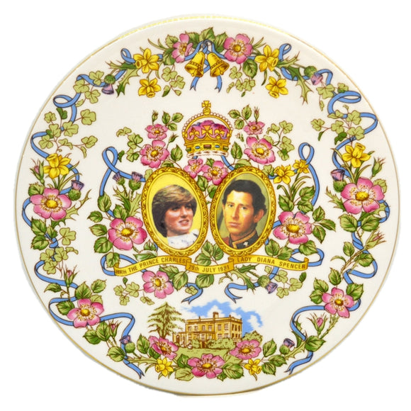 Caverswall Limited edition Royal Wedding China Plate 1981