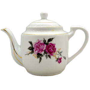 Pretty Chinese Export Floral China Teapot