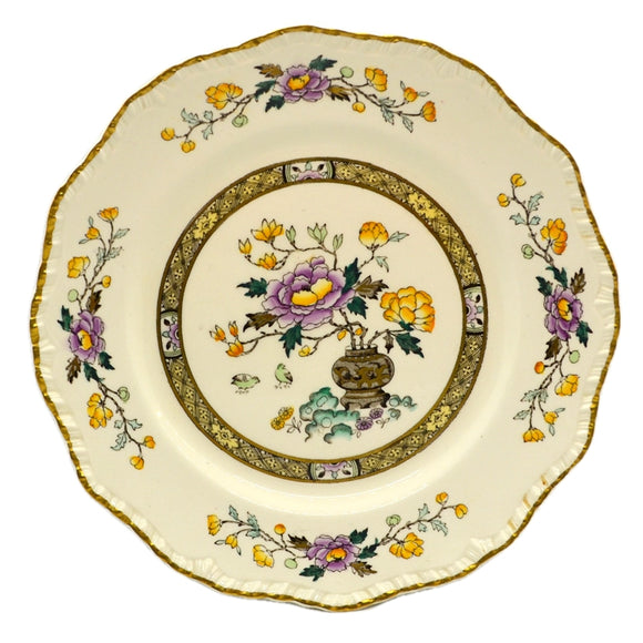 Antique Mason's Chinese Peony Ashworth Brothers Dessert Plate