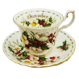 Royal Albert Flowers of the Month Series Floral China Tea Cup Christmas Rose December
