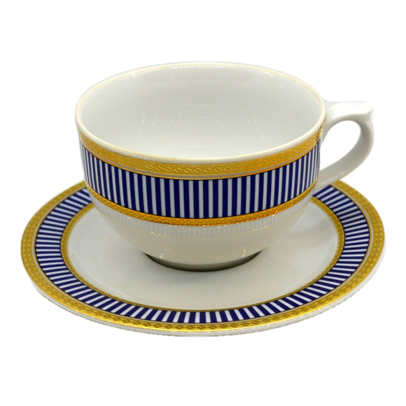 Churchill China Venice Blue and White China Tea Cup & Saucer