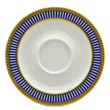 Churchill China Venice Blue and White China Saucer
