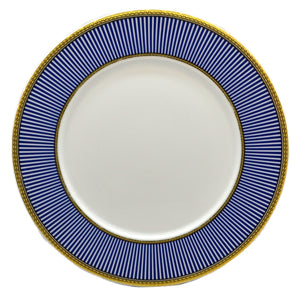 Churchill China Venice Blue and White China Dinner Plate