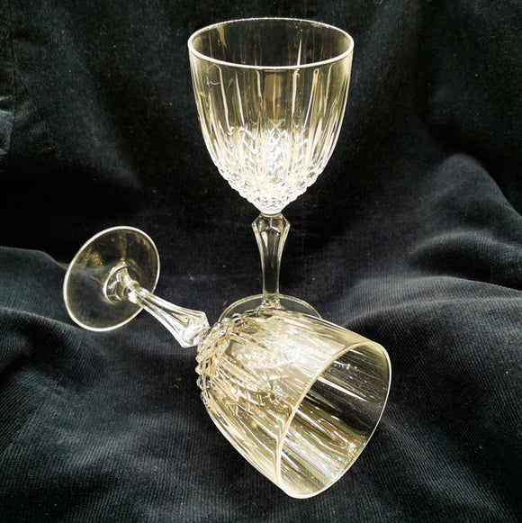 Pair of Lead Crystal Wine Glasses