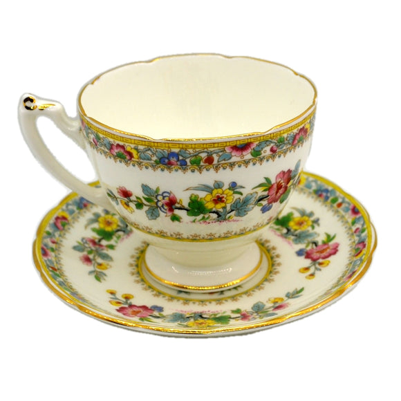 Coalport China Ming Rose Teacup and Saucer