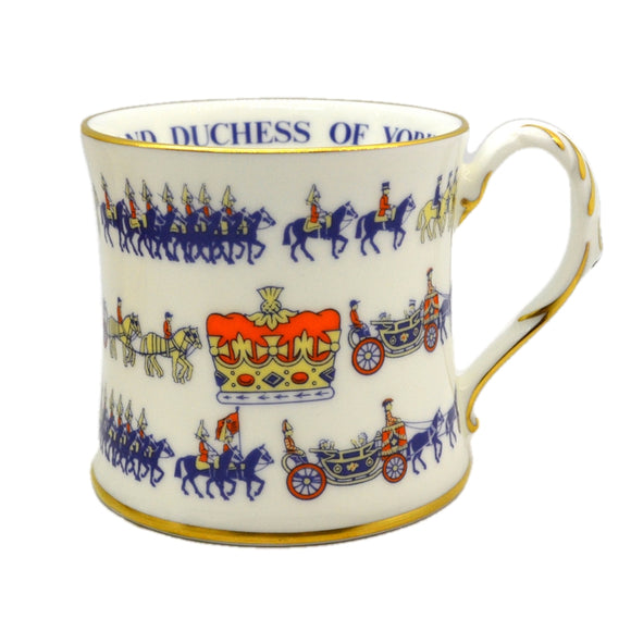 Coalport China Commemorative Wedding Mug 1986