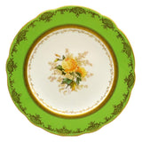 Coalport floral china caninet plate chrysanthemum antique china c1910