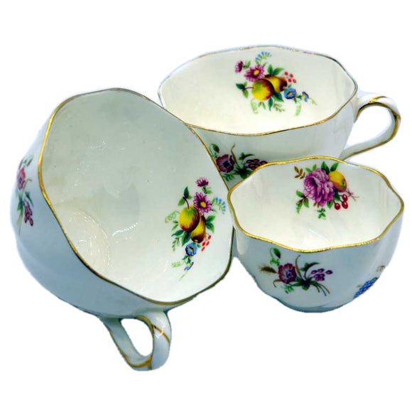 vintage floral coalport bone china teacups