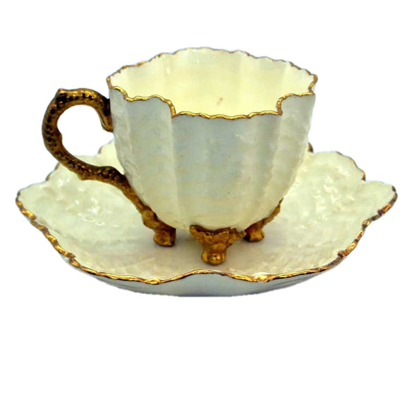 Antique coalport teacup rococco style