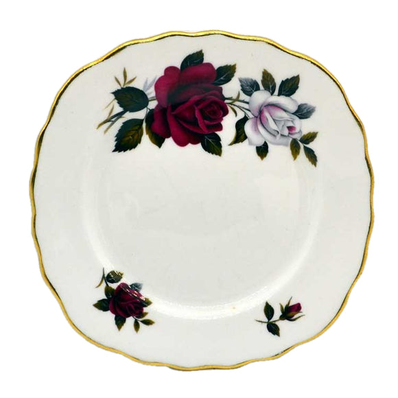 square colclough amoretta china side plate