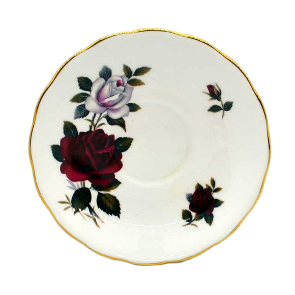 colclough amoretta bone china tea saucer