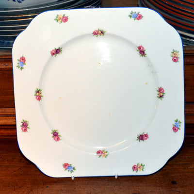 Vintage Colclough bone china Art Deco square cake plate