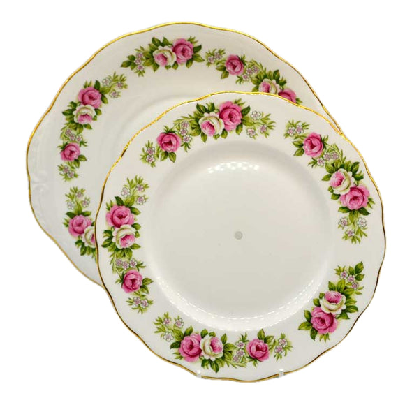 Enchantment colclough bone china cake stand plates