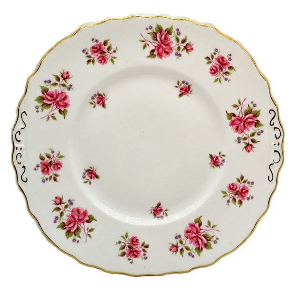 Colclough Floral China Pink Roses cake Plate 1954-1965