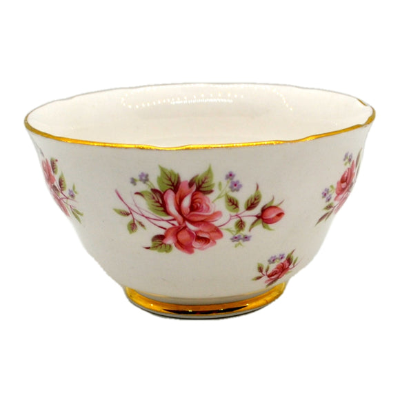Colclough China Pink Roses Open Sugar Bowl 8256