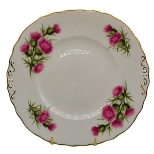 vintage colclough china thistle pink cake plate