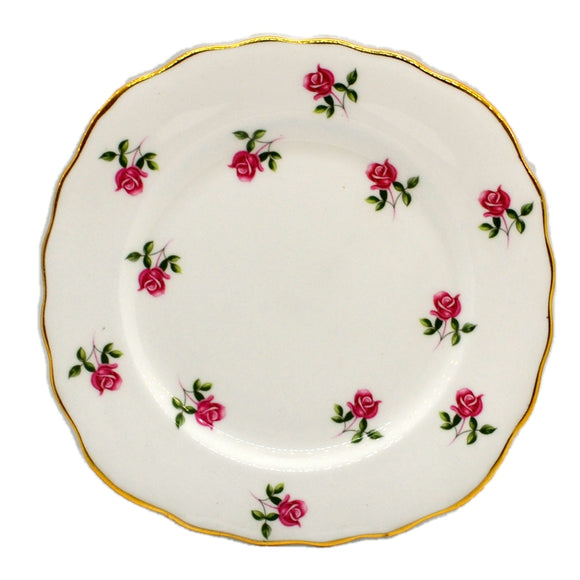 Colclough Fragrance Bone China Square Side Plate Pink Rose 7433