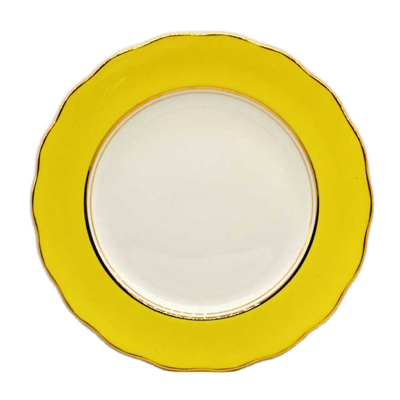 colclough harlequin ballet yellow plates