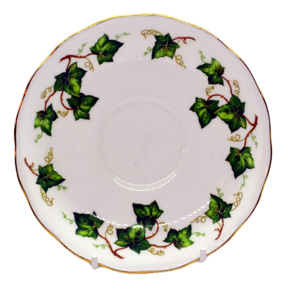 Colclough Ivy Leaf 8143 pattern saucer