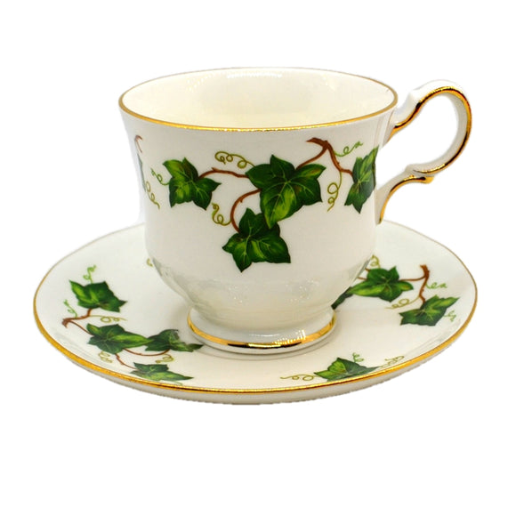 Colclough China Ivy Leaf Tea Cup and Saucer Montrose 1955-1964