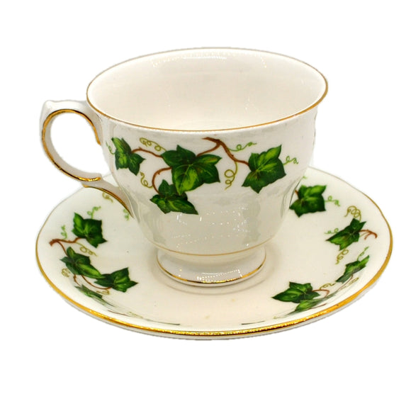 Colclough China Ivy Leaf Teacup and Saucer Shape D cups