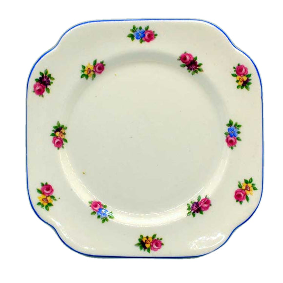 rare colclough china patterns disty roses square side plates c1930
