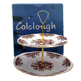 Vintage Colclough royale cake stand and box