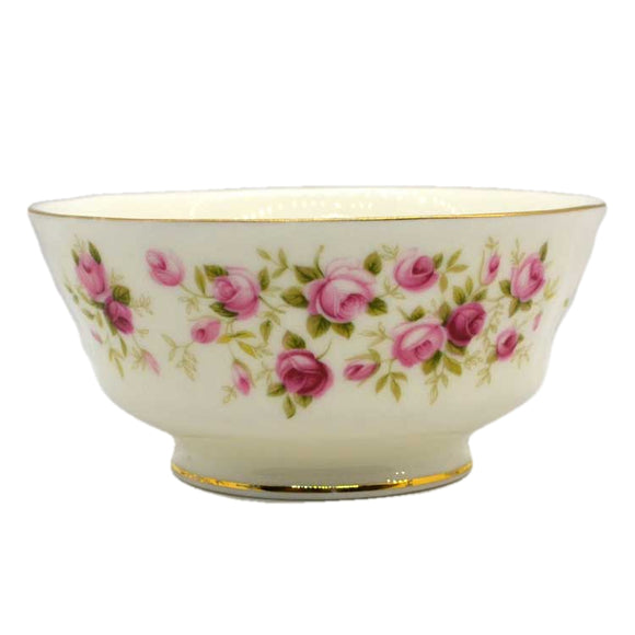 Rare Colclough pink rose pattern late sugar bowl