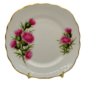 vintage colclough china thistle side plates