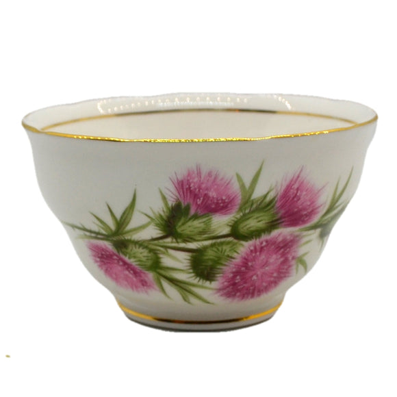 colclough thistle 7608 pattern vintage china sugar bowl